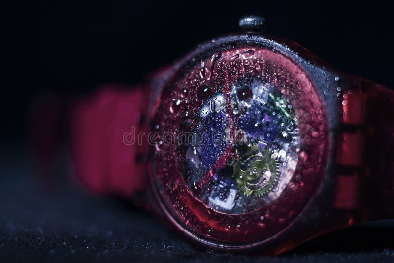 Nat horloge stock afbeelding