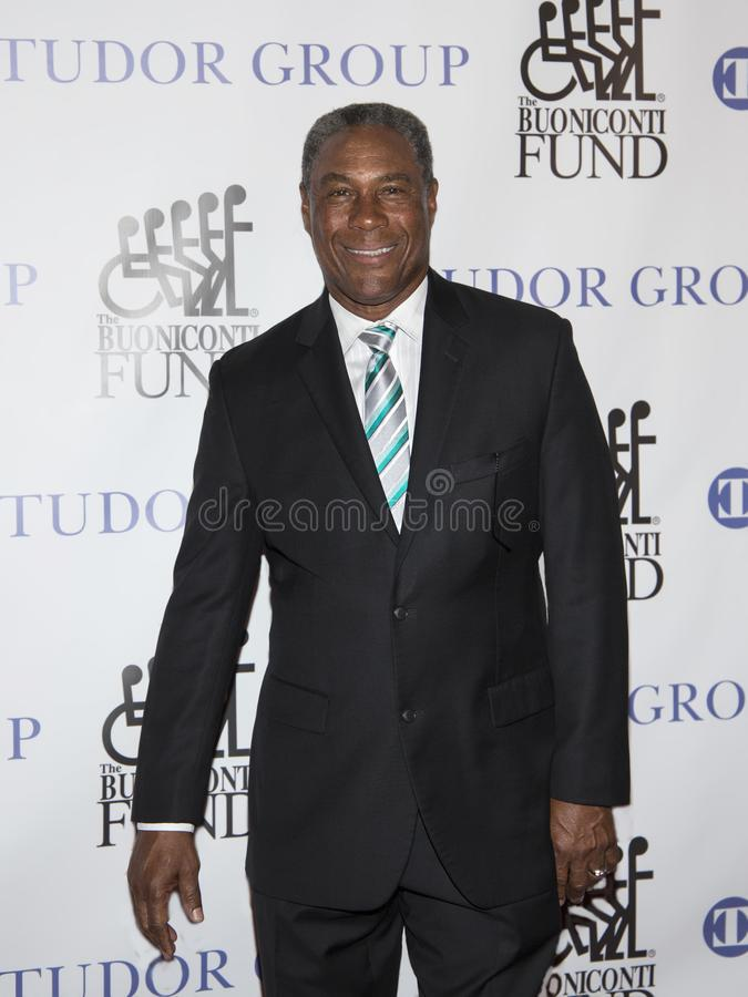Nat Moore. Former NFL receiver Nat Moore attends the 33rd Annual Great Sports Legends Dinner at the Hilton Midtown hotel in Manhattan on September 24, 2018 royalty free stock images