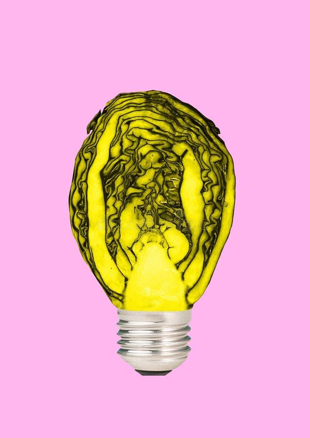 Nat?rliche Energie Moderne Auslegung Collage der zeitgen?ssischen Kunst vektor abbildung