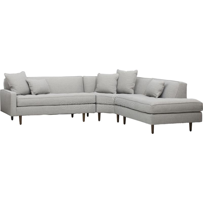 Nat?rliche Gr??e des Stuhls, erstaunliche Schnittcouches mit Recliners-Sofa Recliner And Chaise Lounge-Zwingen stockfotografie