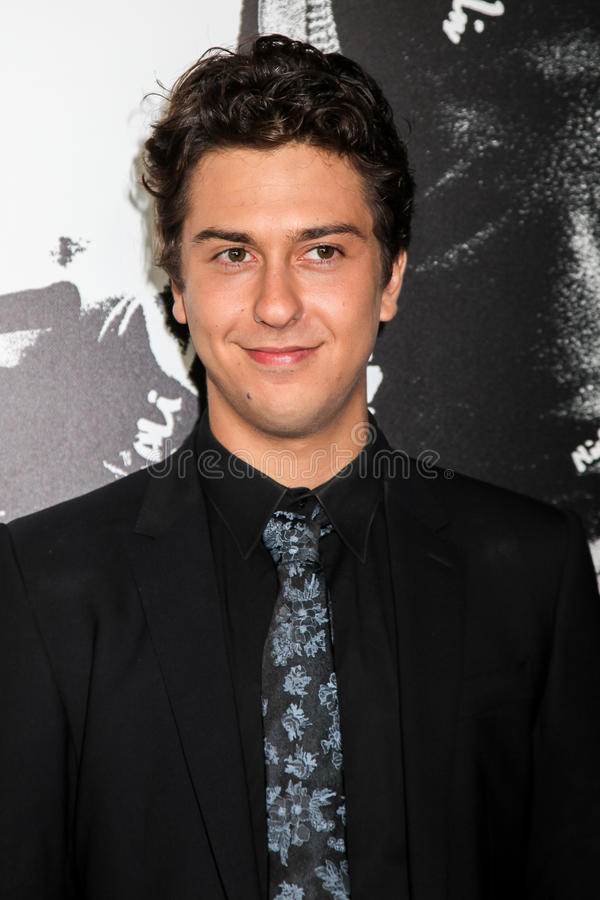 Nat Wolff. NEW YORK, NY - AUGUST 17: Actor Nat Wolff attends the `Death Note` New York premiere at AMC Loews Lincoln Square 13 theater on August 17, 2017 in New royalty free stock images