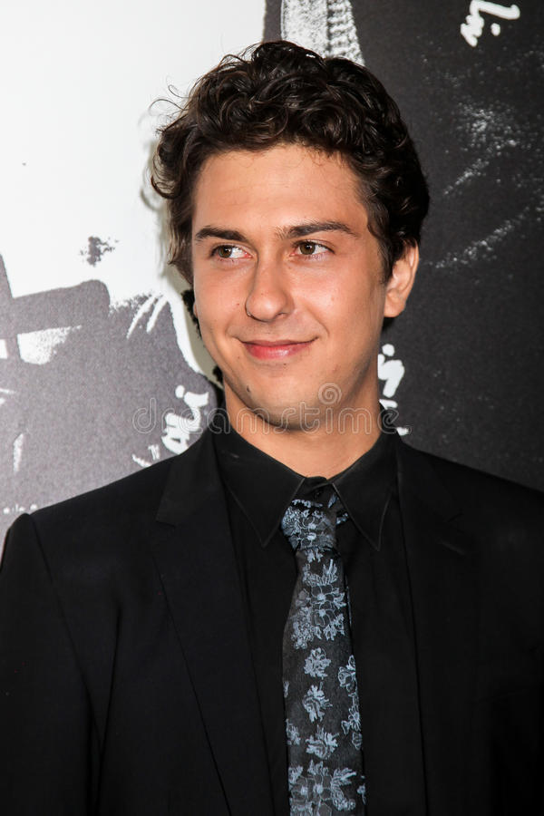 Nat Wolff. NEW YORK, NY - AUGUST 17: Actor Nat Wolff attends the `Death Note` New York premiere at AMC Loews Lincoln Square 13 theater on August 17, 2017 in New royalty free stock photos