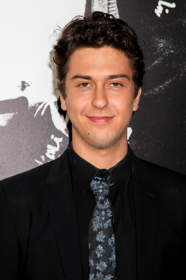 Nat Wolff. NEW YORK, NY - AUGUST 17: Actor Nat Wolff attends the `Death Note` New York premiere at AMC Loews Lincoln Square 13 theater on August 17, 2017 in New stock image
