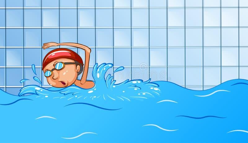 natação ilustração do vetor