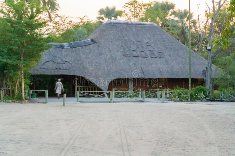 Nata Lodge en Botswana fotos de archivo libres de regalías