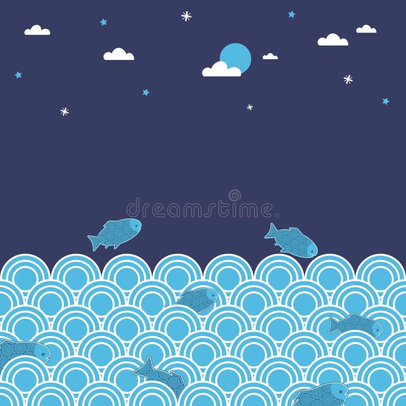 Natación de la noche libre illustration