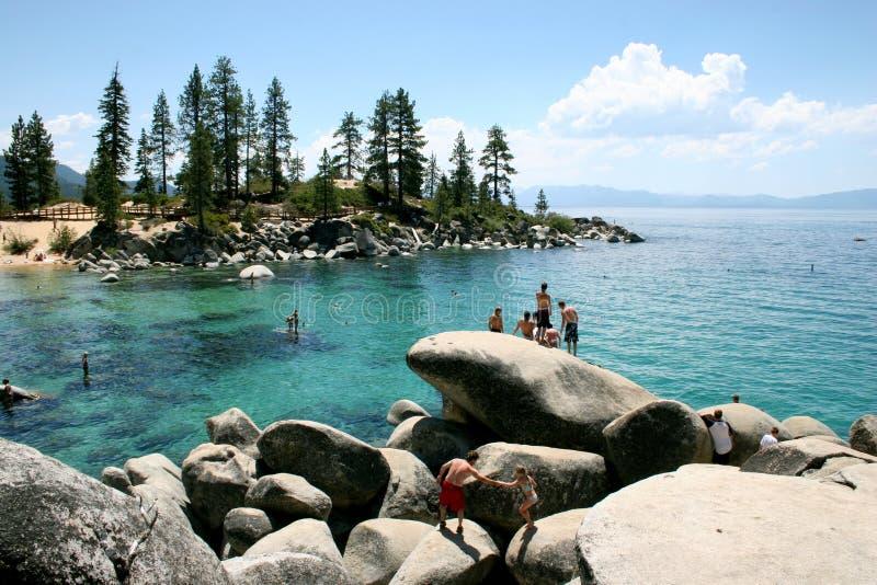 Natación de Lake Tahoe imagenes de archivo