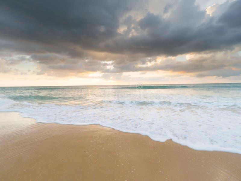 Natai,Phang-nga,Thailand ,beach at sunset. royalty free stock image