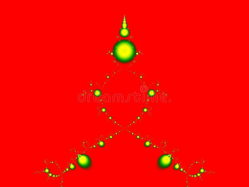 Natal-Árvore do Fractal ilustração royalty free