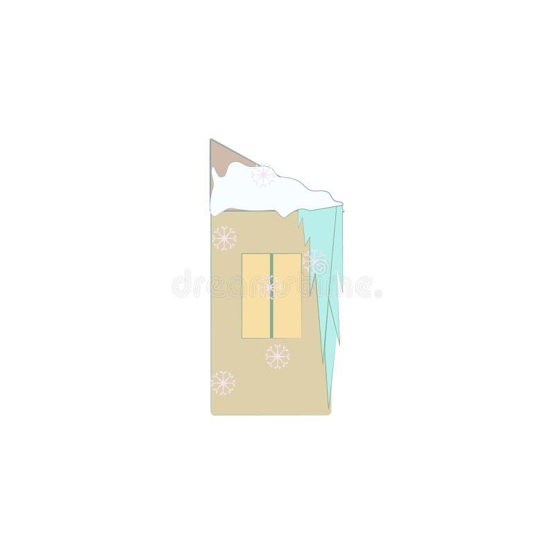 Natal, ícone da casa do gelo Elemento do Natal para apps móveis do conceito e da Web O Natal colorido, ilustração da casa do gelo ilustração royalty free