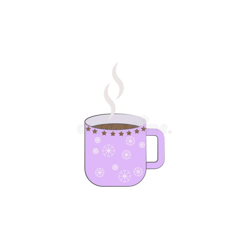 Natal, ícone do café Elemento do Natal para apps móveis do conceito e da Web O Natal colorido, ilustração do café pode ser f usad ilustração stock