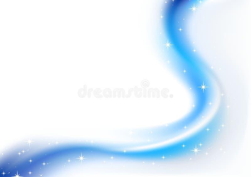 Natal abstrato azul ilustração do vetor