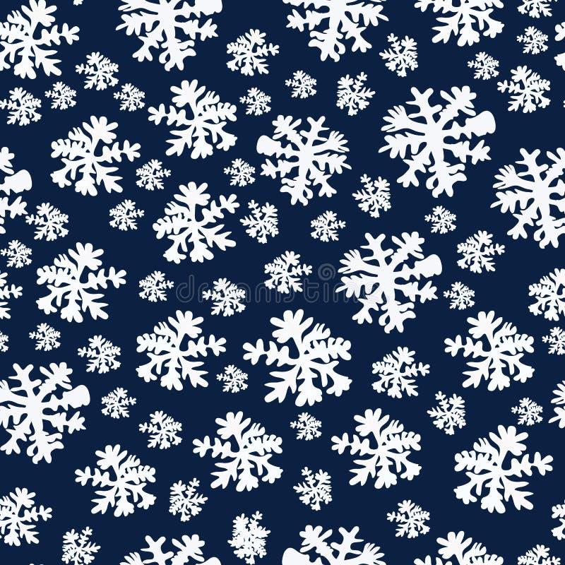 Natal abstrato da beleza e fundo do ano novo com neve e flocos de neve Ilustração do vetor EPS10 ilustração stock