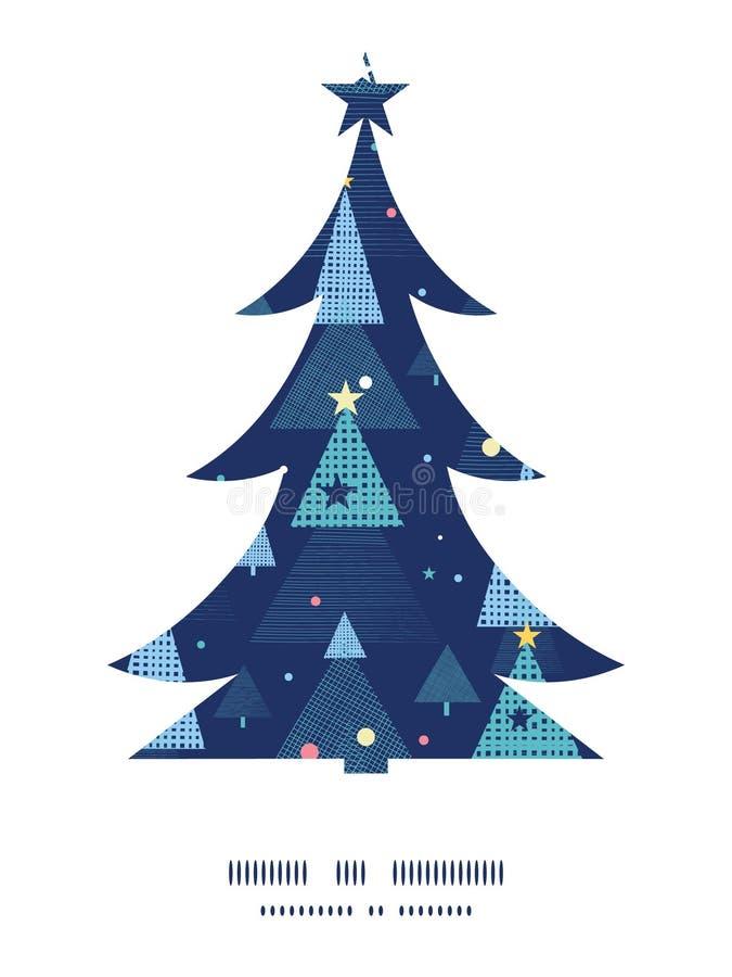 Natal abstrato das árvores de Natal do feriado do vetor ilustração stock