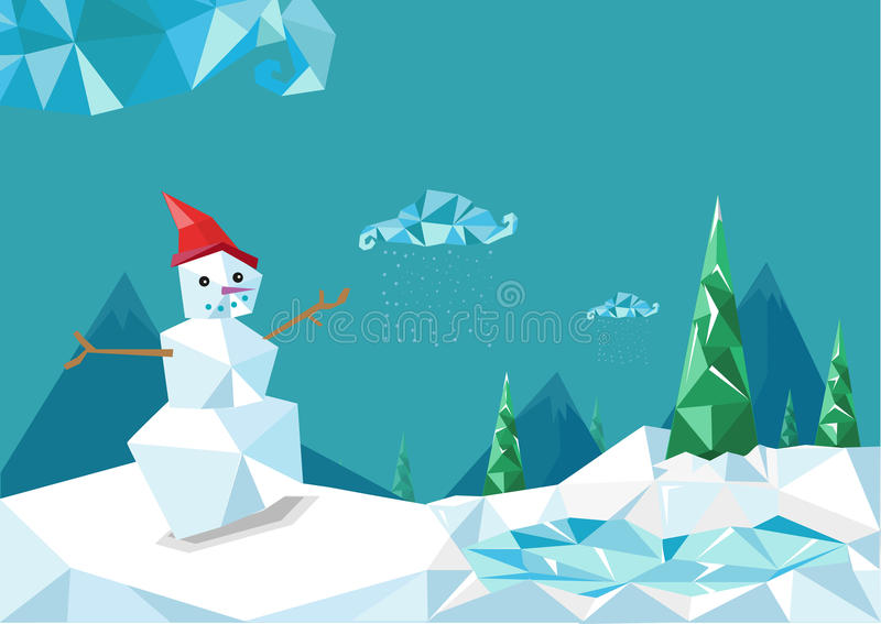 Natal agradável Diamond Stylized Design ilustração royalty free