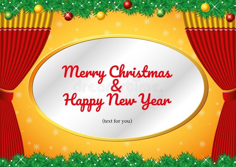 Natal & ano novo feliz foto de stock royalty free