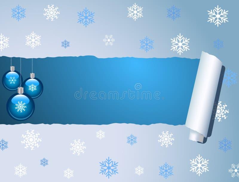Natal azul ilustração do vetor