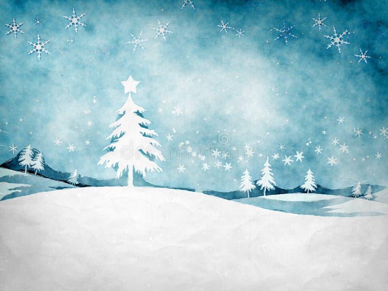 Natal azul ilustração royalty free