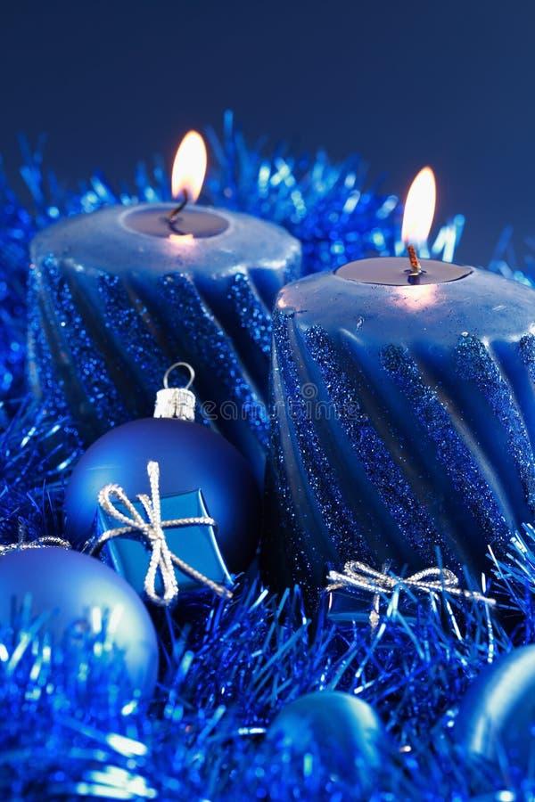Natal azul fotografia de stock