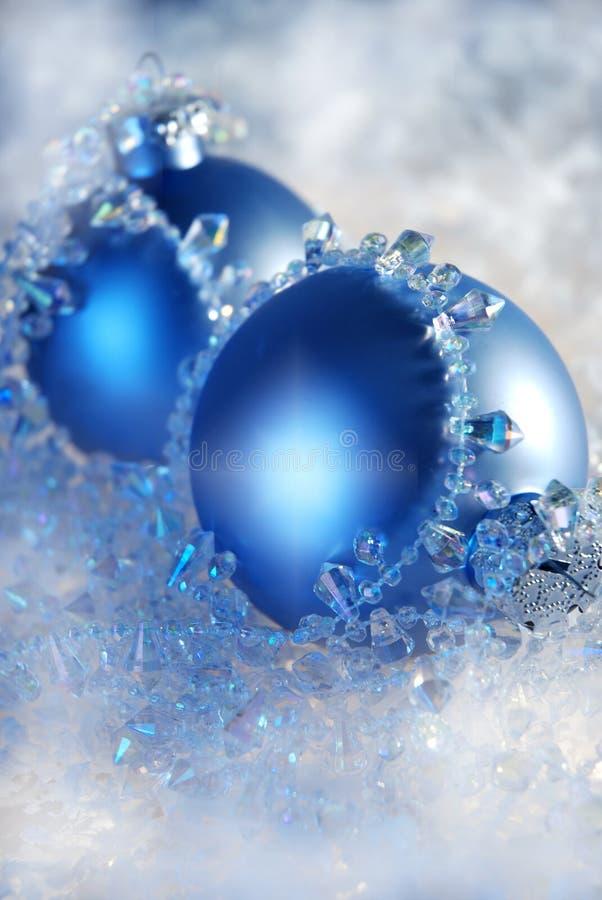 Natal azul imagem de stock