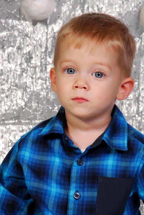 Natal bonito da criança do menino fotografia de stock