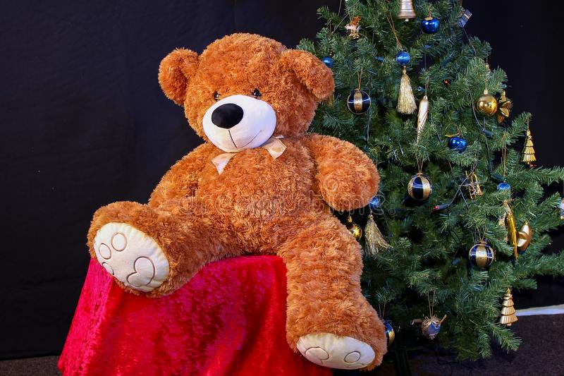 Natal bonito e anos novos da cena imagem de stock royalty free