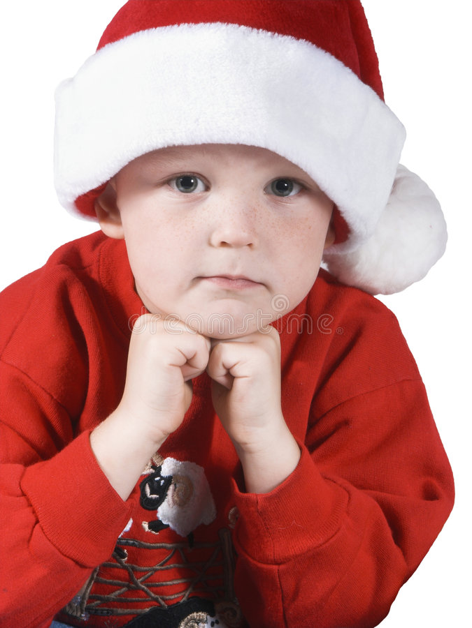 Natal boy#2 imagem de stock