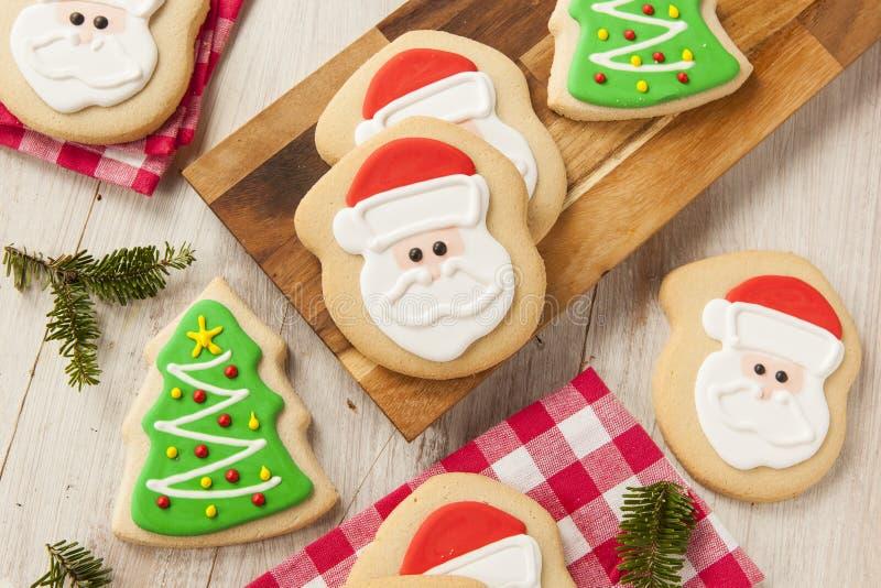 Natal caseiro Sugar Cookies imagem de stock