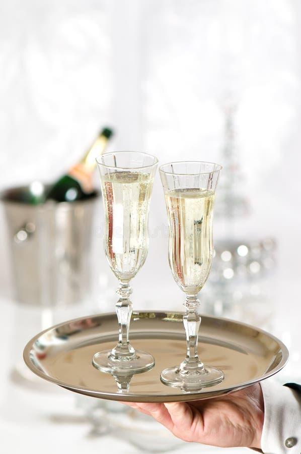 Natal Champagne fotografia de stock royalty free