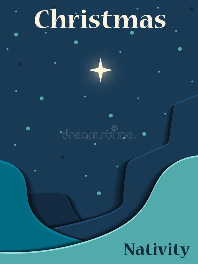 Natal Christian Nativity Scene ilustração do vetor