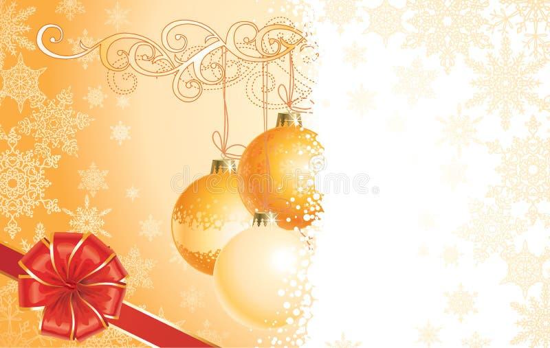 Natal com decorações e curva/vetor ilustração royalty free