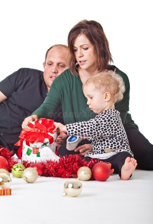 Natal com minha família imagens de stock royalty free