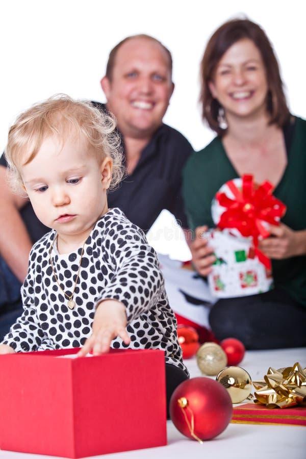 Natal com minha família foto de stock royalty free