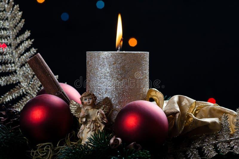 Natal com vela fotos de stock