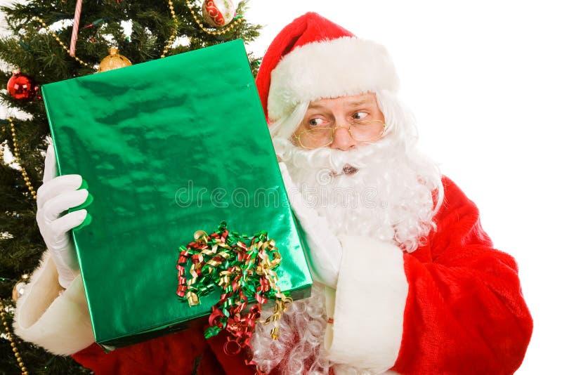Natal curioso Santa imagem de stock royalty free