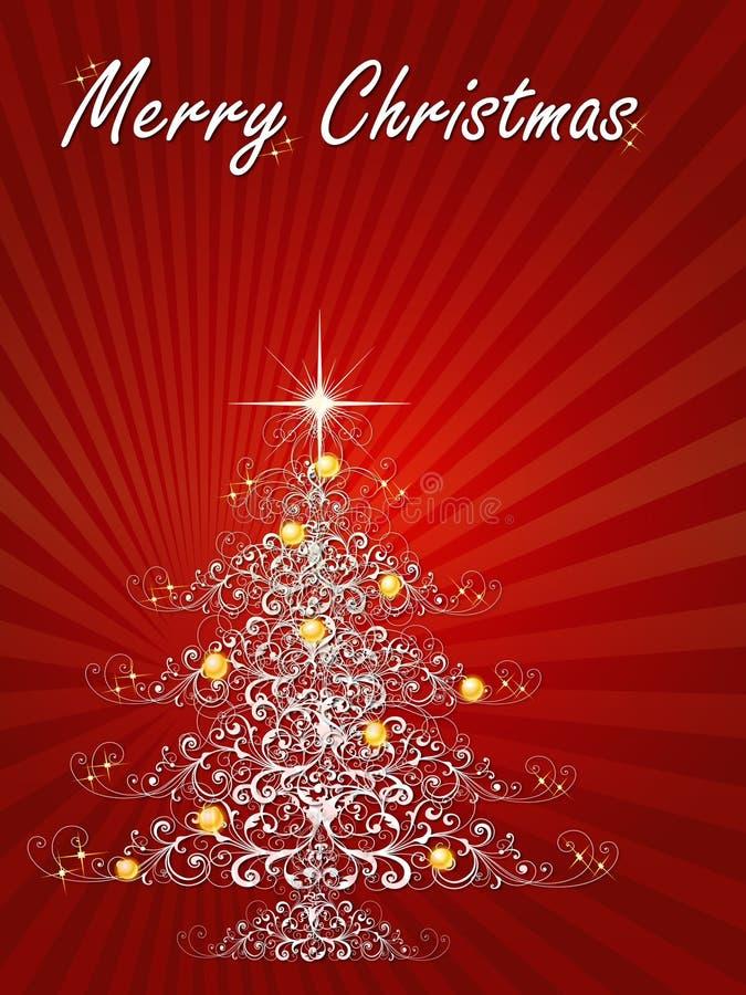 Natal da árvore ilustração do vetor