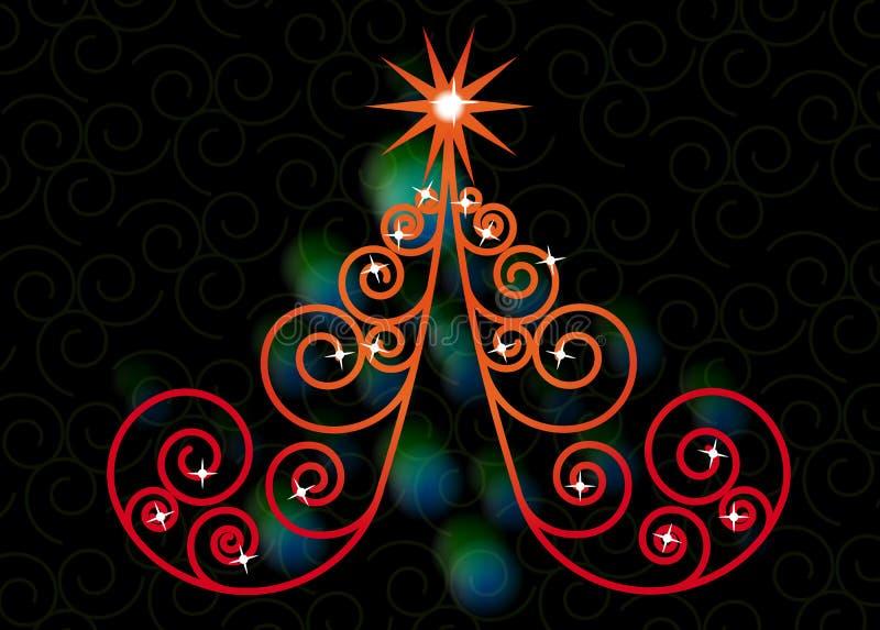 Natal da árvore do redemoinho ilustração royalty free