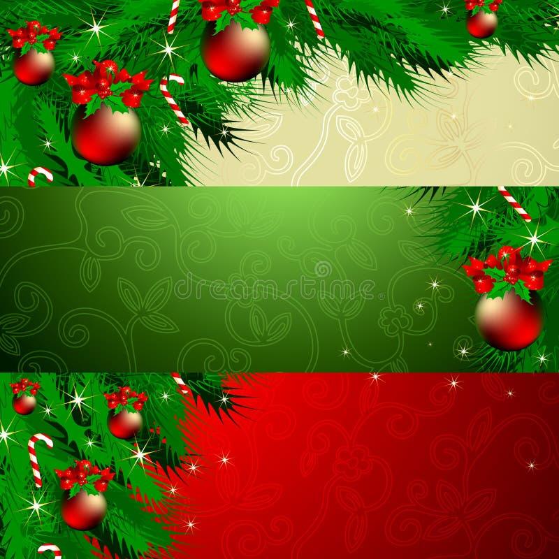Natal da bandeira ilustração do vetor