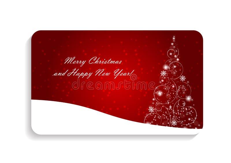 Natal da beleza e vetor abstratos do cartão do ano novo ilustração do vetor