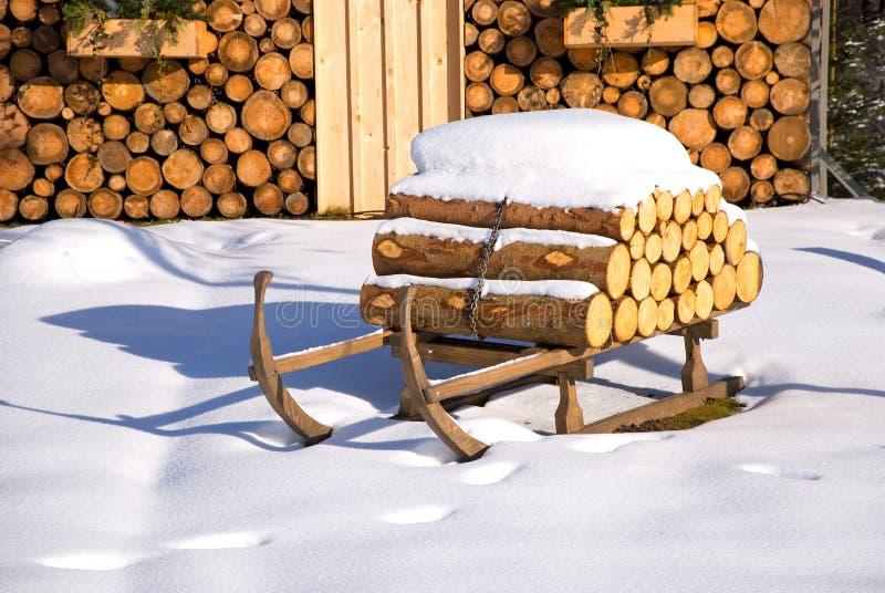 Natal da cabana do inverno fotografia de stock royalty free