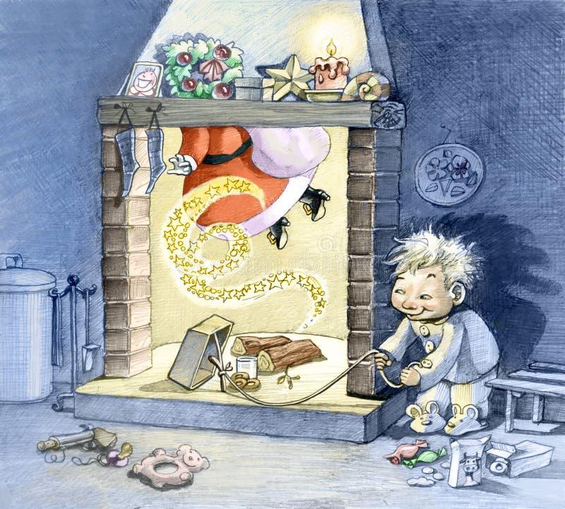 Natal da captação ilustração do vetor