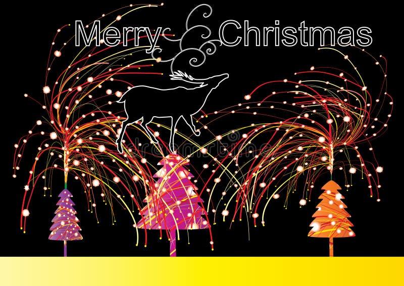 Natal da noite ilustração stock