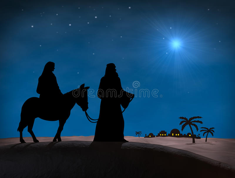 Natal de Bethlehem ilustração royalty free