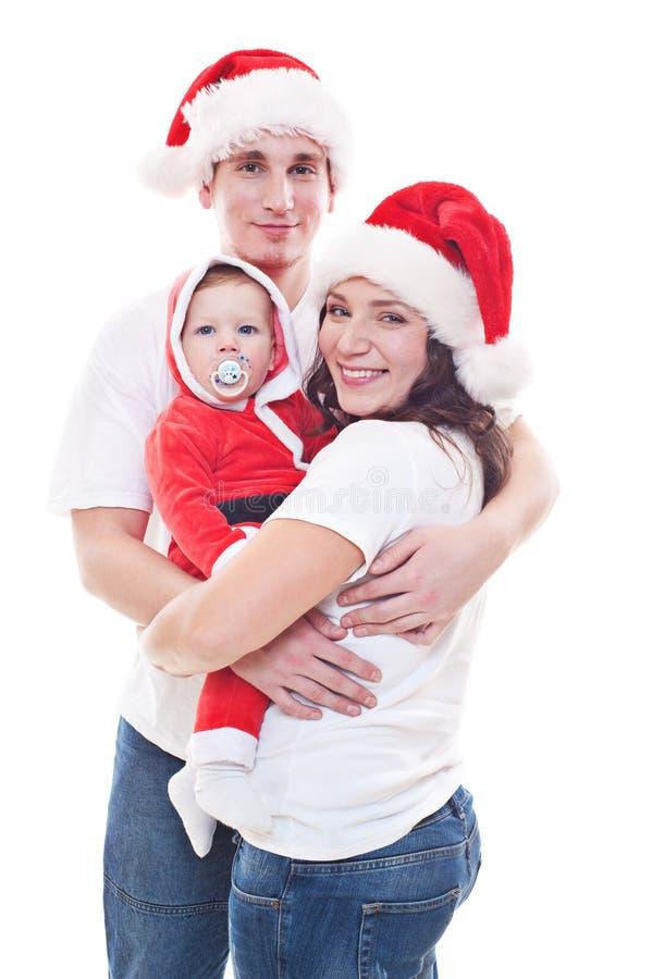 Natal de espera da família festiva fotos de stock