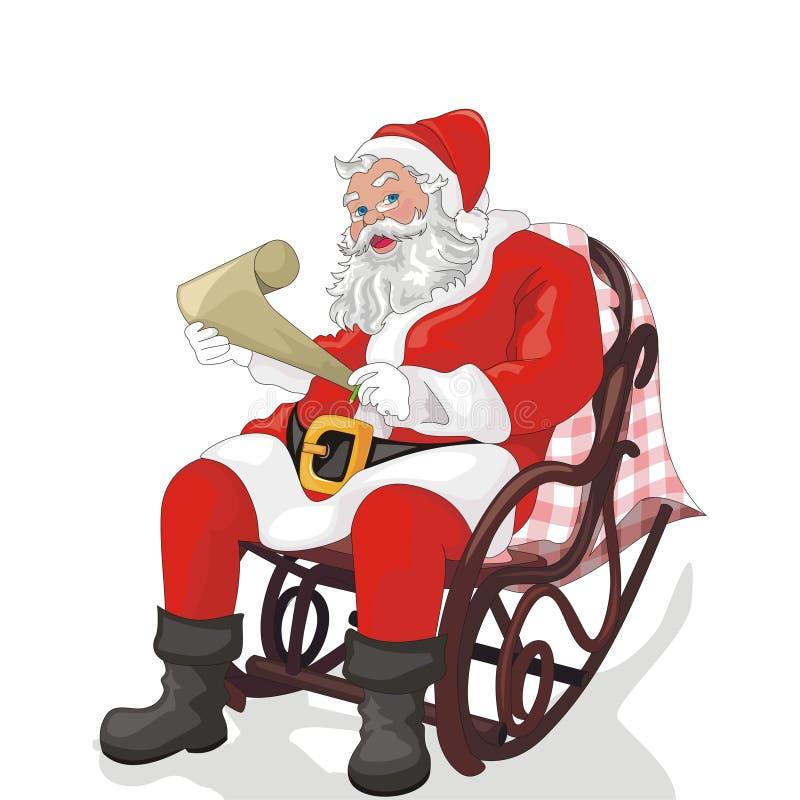 Natal de Papai Noel e de pai ilustração do vetor