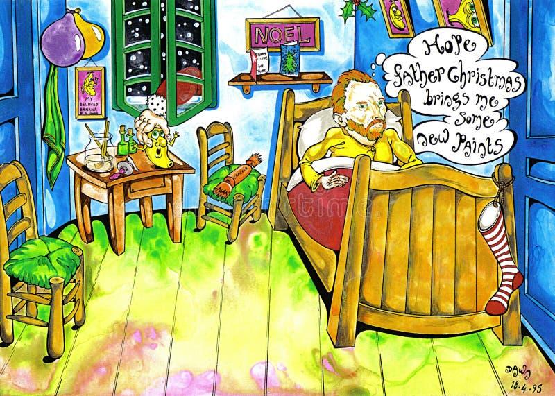 Natal de Van Gogh ilustração stock