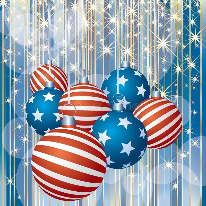 Natal descascado patriótico ilustração royalty free