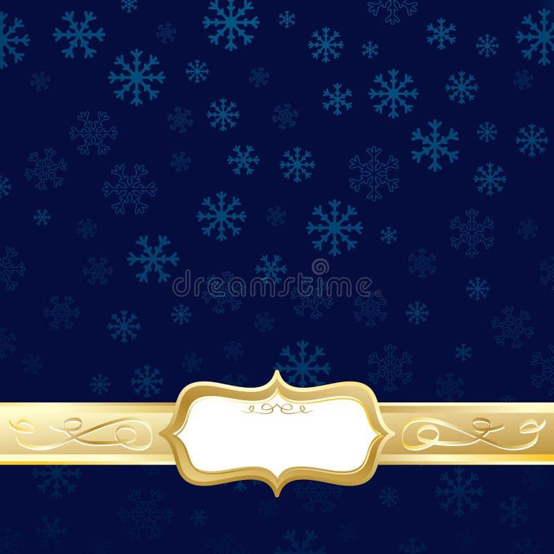 Natal do azul e do ouro ilustração stock