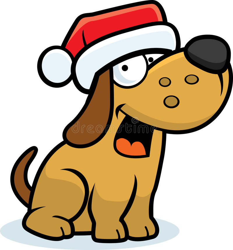 Natal do cão pequeno ilustração royalty free