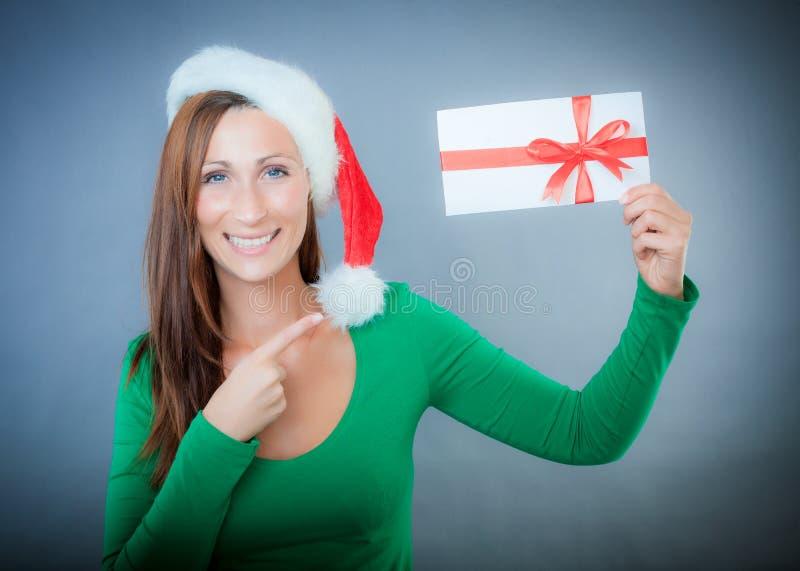 Natal do comprovante imagem de stock
